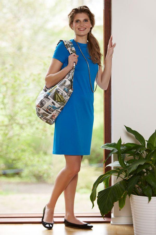 e74044360043 Enkel og elegant hverdags kjole i viscose jersey.