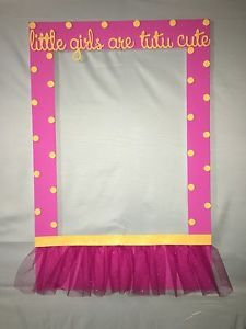 Tutu Photo Booth Frame To Take Pictures Birthday Baby Shower Frame