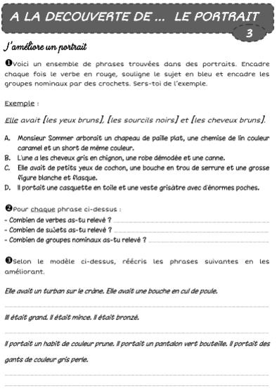 A LA DECOUVERTE DE ... LE PORTRAIT | Lecture cm1, Portrait, Lecture compréhension ce1