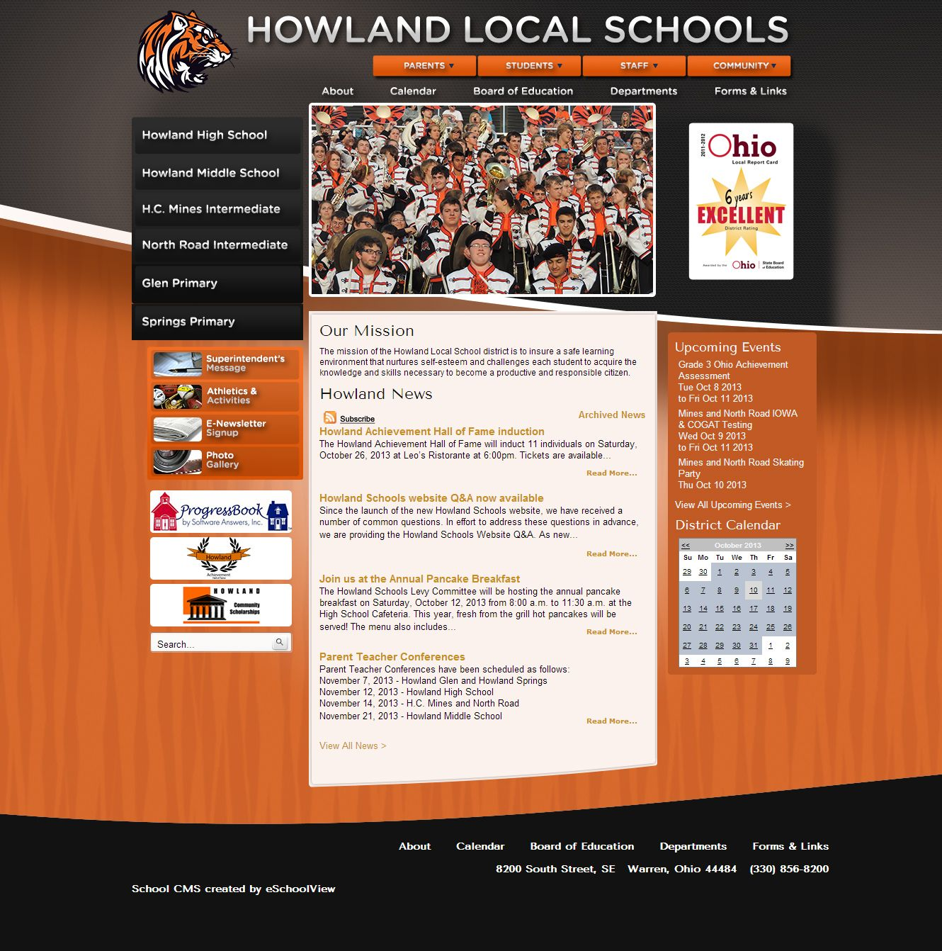 Howland Local Schools Warren Ohio Howland School Educational Board