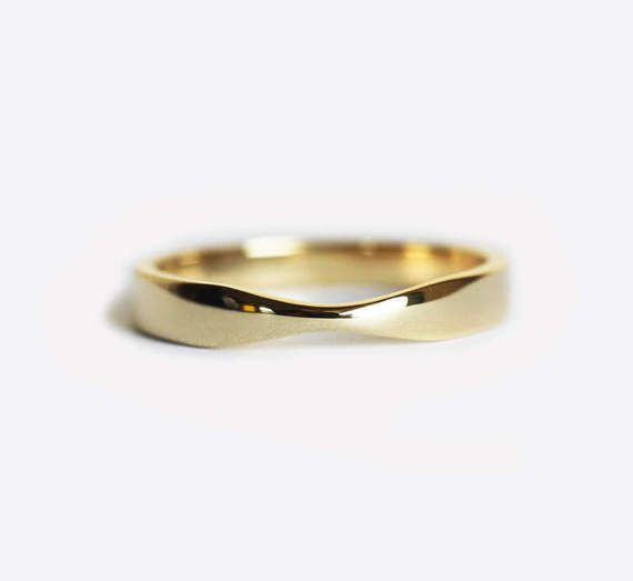 Yellow Gold Wedding Ring Gold Womens Wedding Band Simple Gold Band Twisted Band Simple Gold Ring 14k Solid Gold In 2020 Yellow Gold Wedding Ring Womens Wedding Bands Gold Wedding Rings