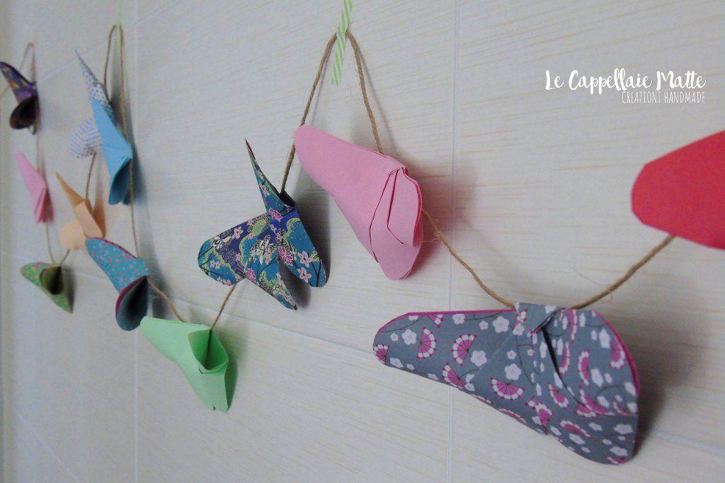 Photo of Ghirlanda di farfalle origami – Le Cappellaie Matte