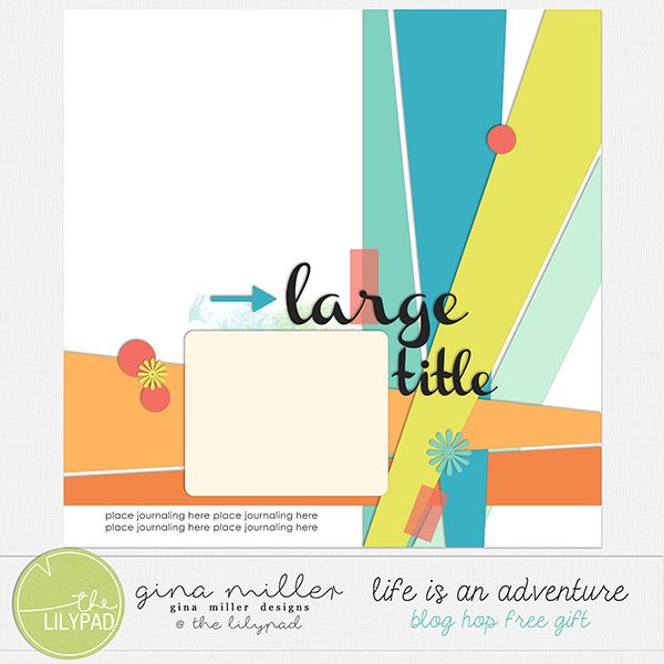 Gina Miller Designs Digital Scrapbooking The Lilypad