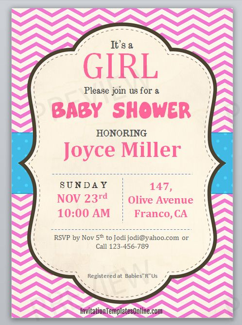 Free Printable Baby Shower Invitation Template Download And Print