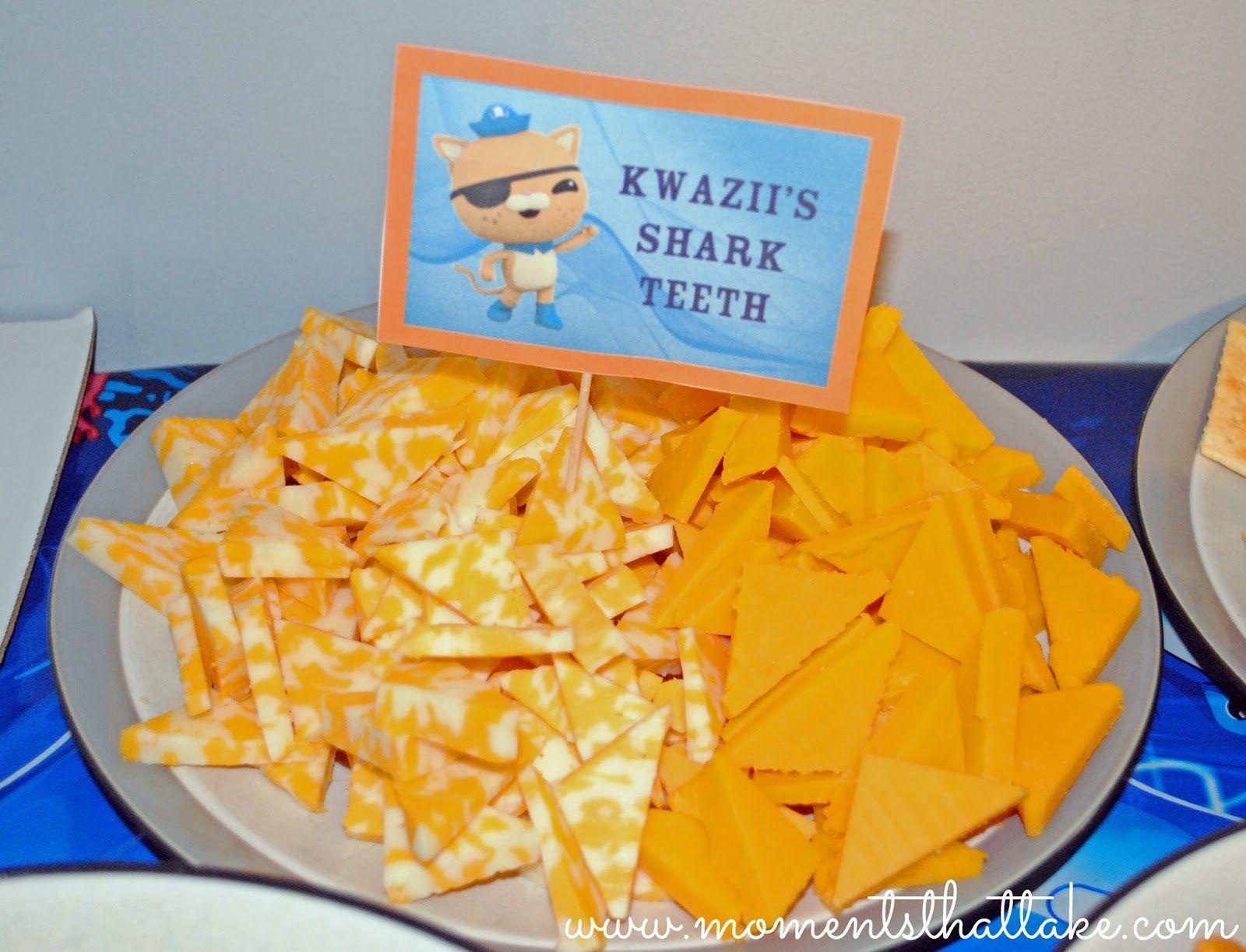 Octonauts Birthday Party Food Ideas Kwaziis Shark Teeth