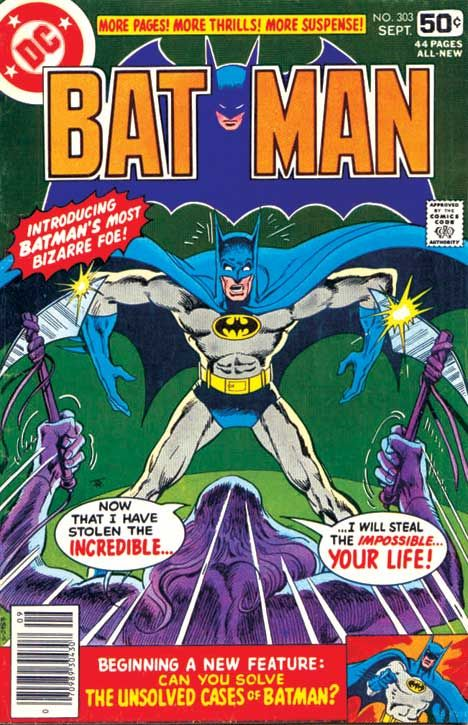 BATMAN #303  (Cover by Jim Aparo)  Published and © by DC, Sep. 1978