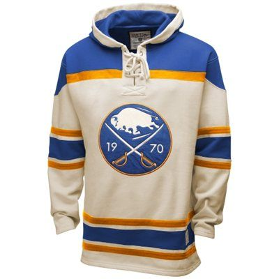 Old Time Hockey Buffalo Sabres Lace Jersey Team Pullover Hoodie - Natural Light  Blue dd867b2e2