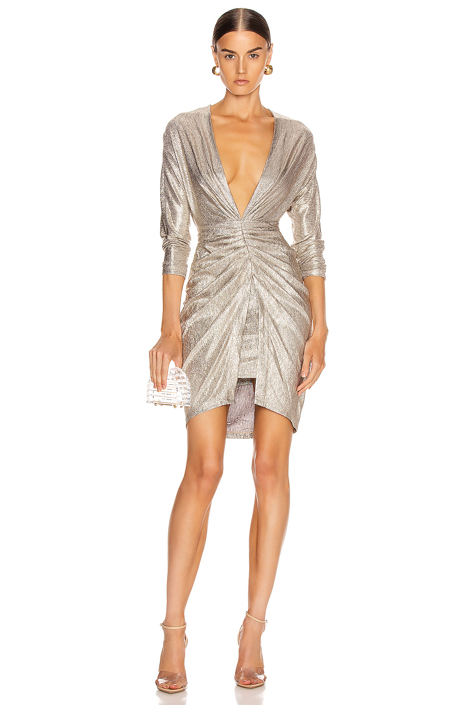 IRO City Dress in Gold FWRD City dress, Dresses