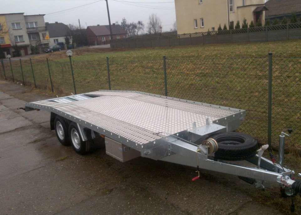 BORO NOWA LAWETA POD BUSY 5.5x2.1m car transporter trailer ...