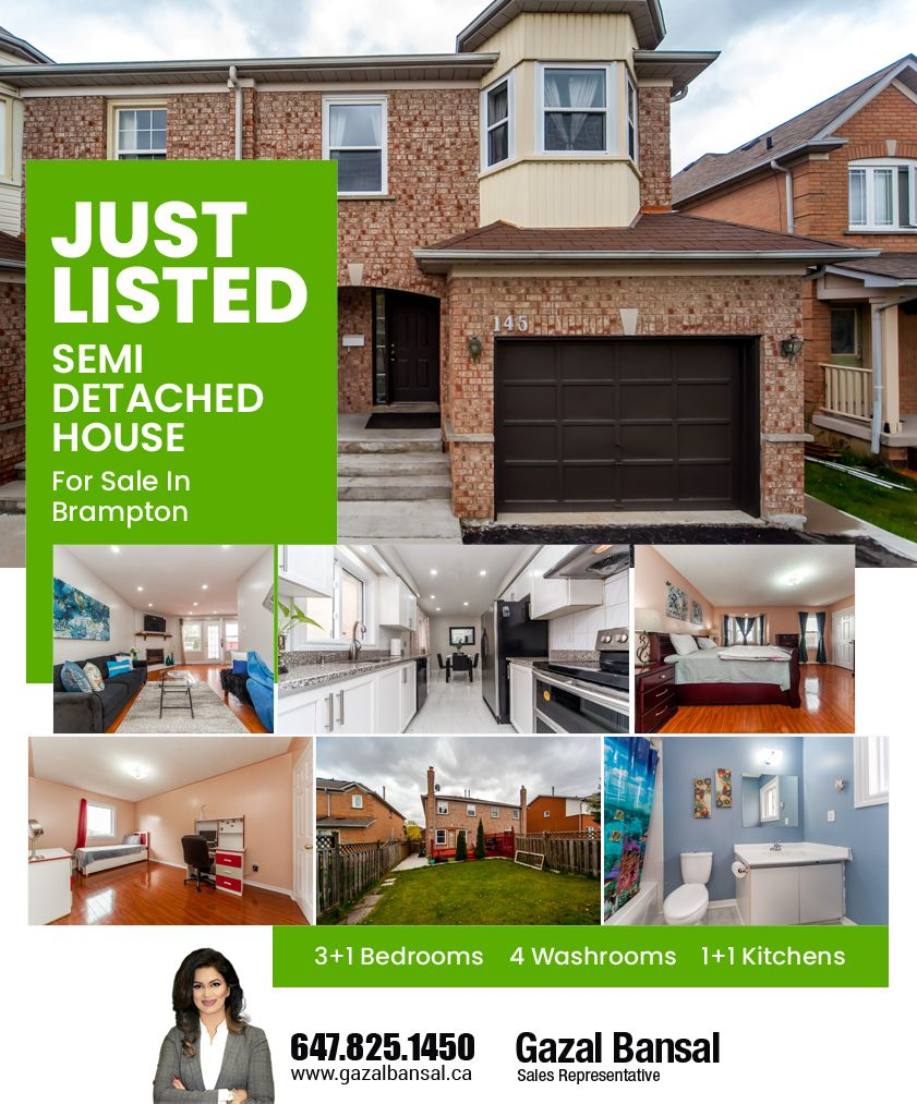 Just Listed Semi Detached House For Sale in Brampton