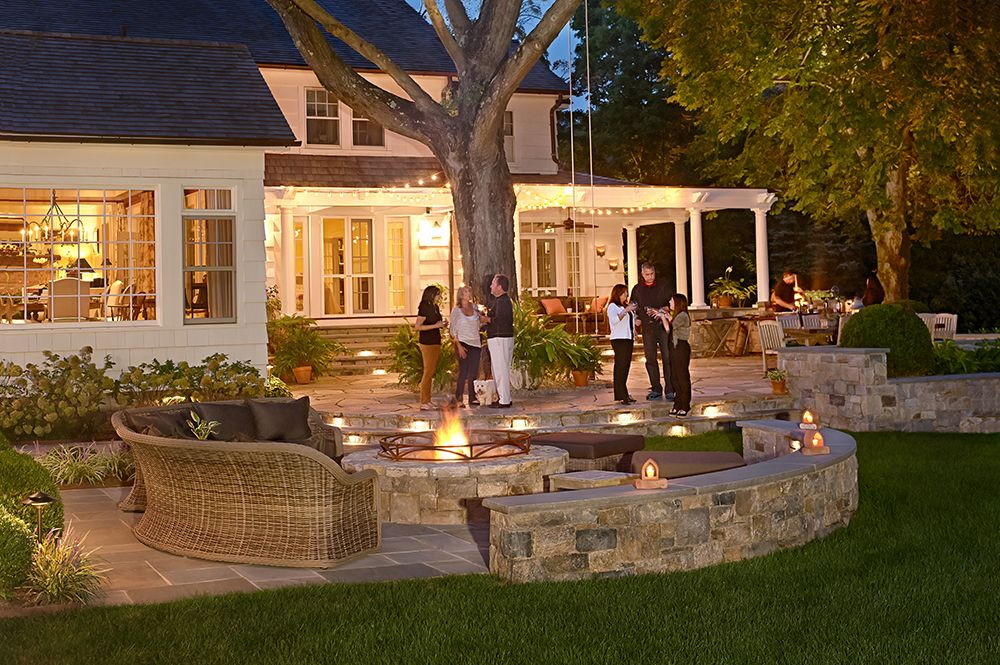fire pit + patio | Fire pit patio, Outdoor patio, Backyard