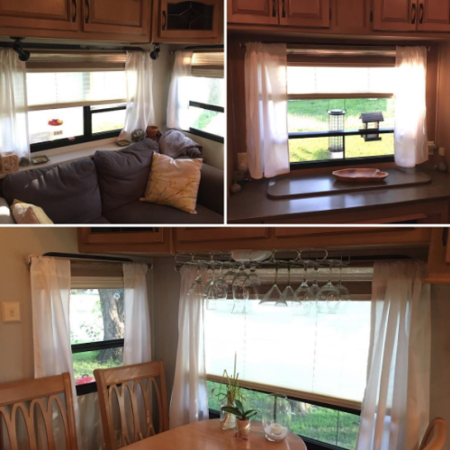 Rv Window Makeover Ideas With Pictures Rv Interior Camper