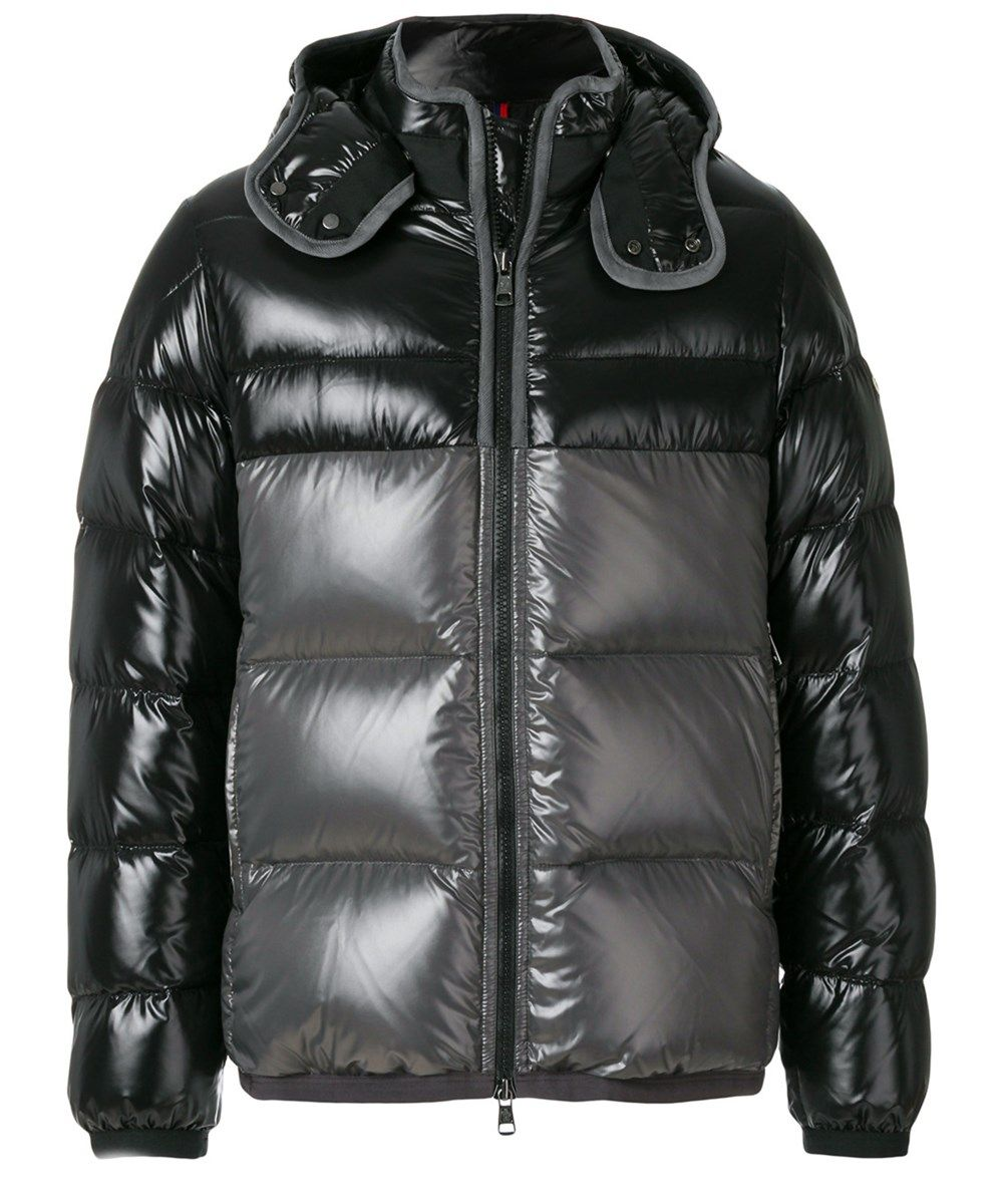 Moncler Men's Grey/black Polyamide Down Jacket ModeSens