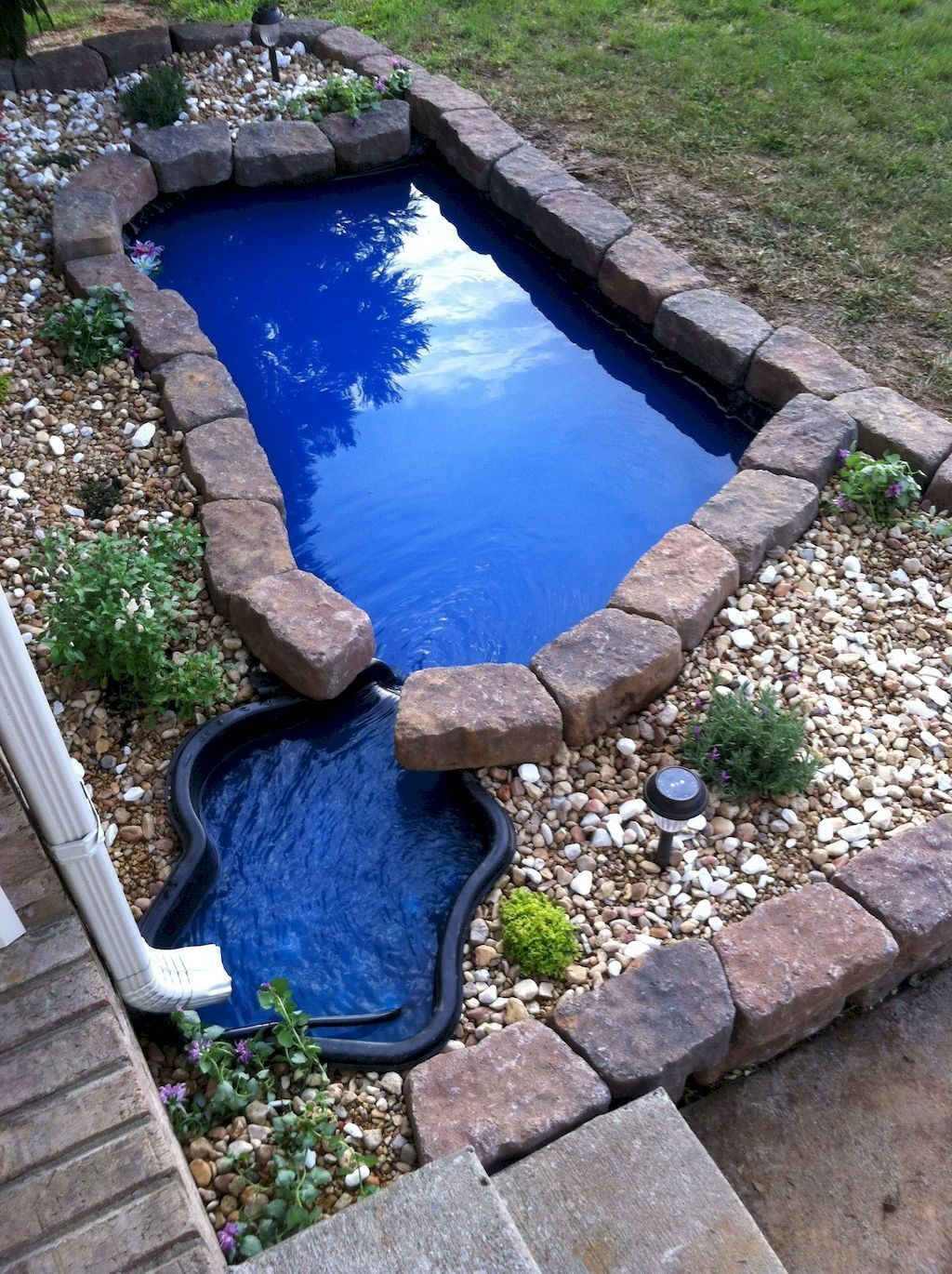 A Cute Little Pond For Someone With Not Much Space Fountains Backyard Waterfalls Backyard Ponds Backyard