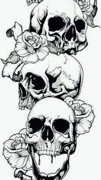 Pin De Anel Seifert En Screenshots Tatuajes Rosas Y Calaveras Craneos Y Calaveras Craneos Tattoo
