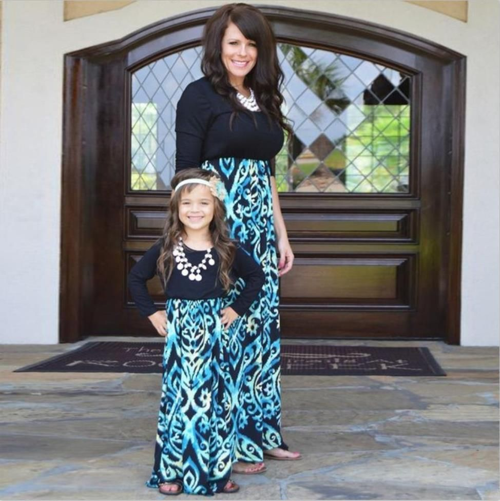 fashion mother and me girls outfits fall dress family matching