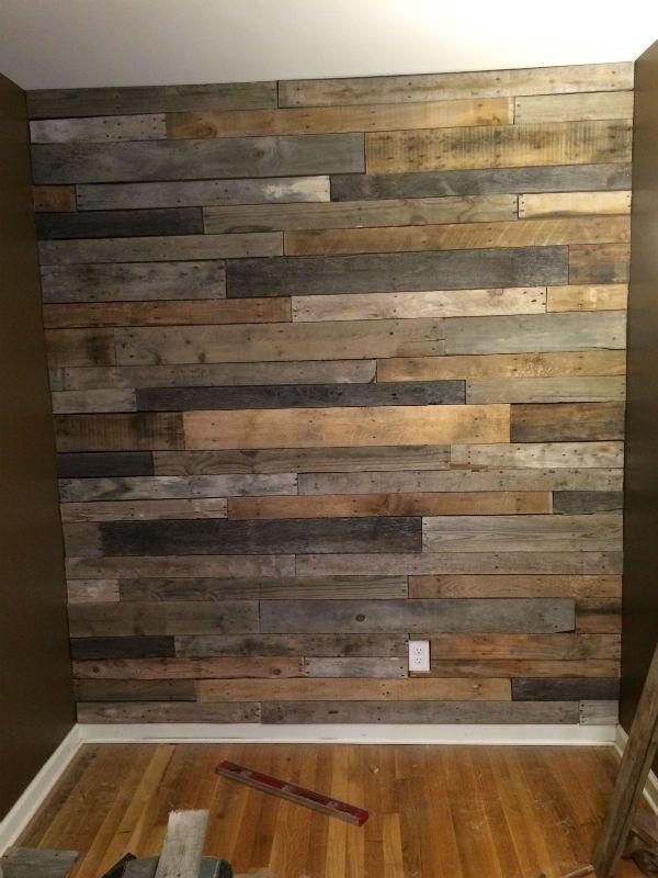 Pallet Wood Feature Wall - Wie man baut #woodfeaturewalls