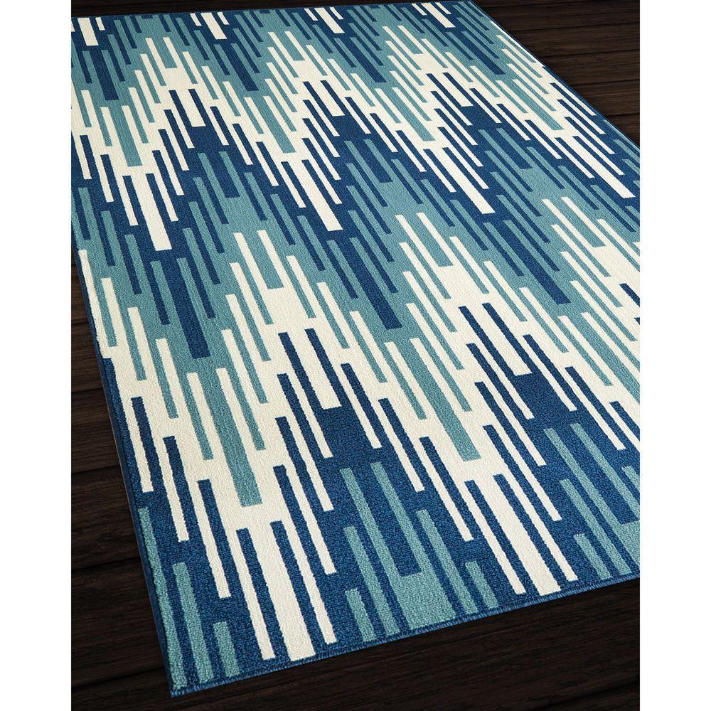 Indoor/Outdoor Blue Ikat Rug (2\'3 x 4\'6) #Contemporary | Decor ...