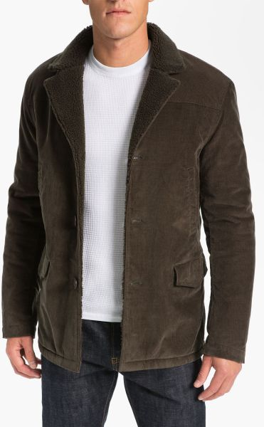 Men S Corduroy Barn Coats Vince Barn Jacket In Brown For Men