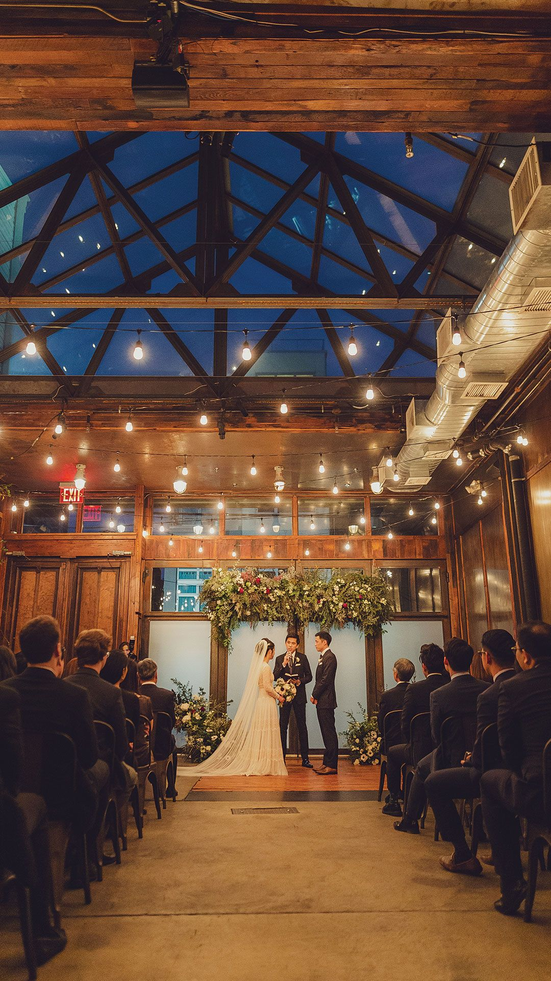 An Elegant Winery Wedding in All Shades of Red Brooklyn