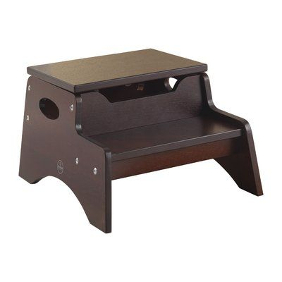 Miraculous Kidkraft Step Stool With Storage Color Finish Espresso Gmtry Best Dining Table And Chair Ideas Images Gmtryco