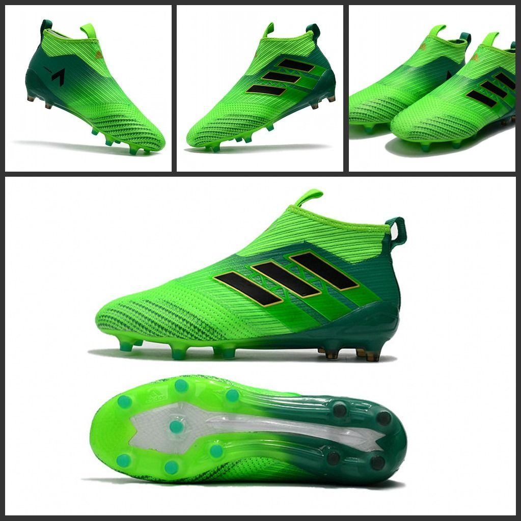 IT Scarpe Da Calcio Adidas ACE 17+ Purecontrol FG Nero Verde