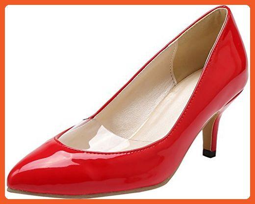 7614238bb826 Calaier Womens Jtaai Pointed-Toe 6CM Stiletto Slip-on Pumps Shoes ...