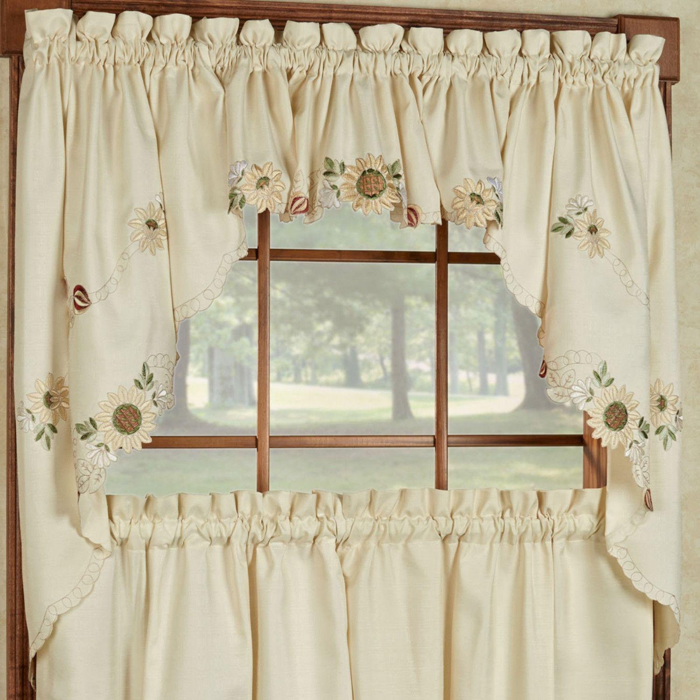 Sunflower Swag Curtains | Sunflower Curtains | Pinterest