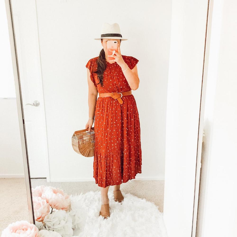 Target Finds Short Sleeve Dresses Rust Color Dresses [ 1000 x 1000 Pixel ]