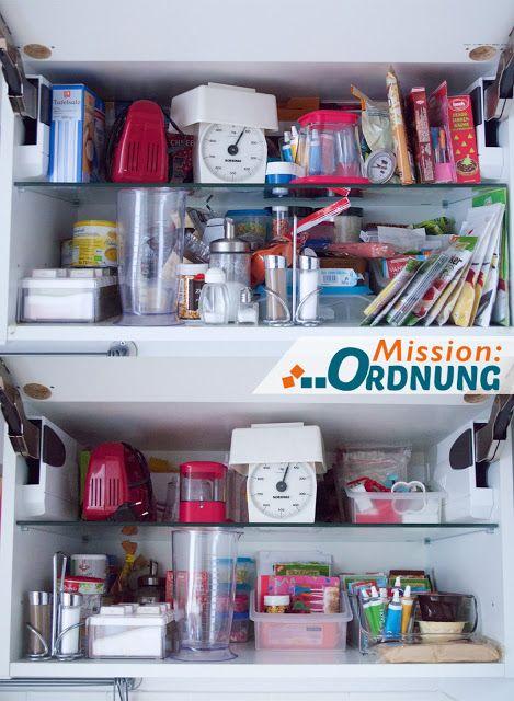MissionORDNUNG Ordnung in der Küche - Back- und Gewürzschrank - ordnung in der küche