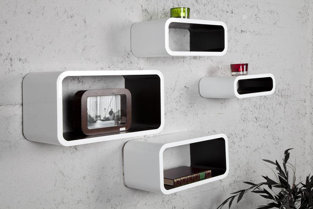 Wandregal design wave  4er Set stylisches Lounge Regal