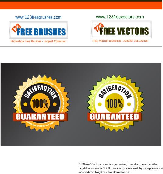 Satisfaction Guarantee Vector Ad Affiliate Ad Vector Guarantee Satisfaction In 2020 Free Brush Graphic Free Vector Graphics