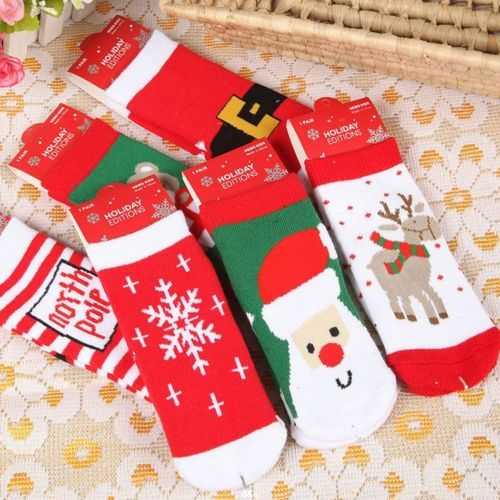 Girls Boy Cotton Christmas Socks Novelty For Years Old Children 1 Pair In Clothes Shoes Accessories Kids Accs