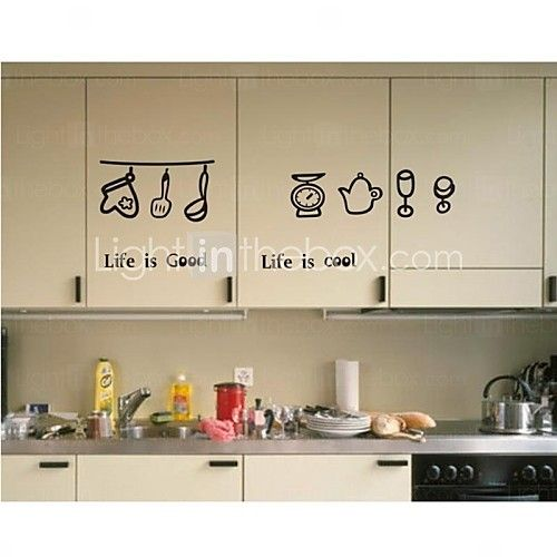 Wall Stickers Decals Kitchen Cool Life Pvc 2021 Us 11 58