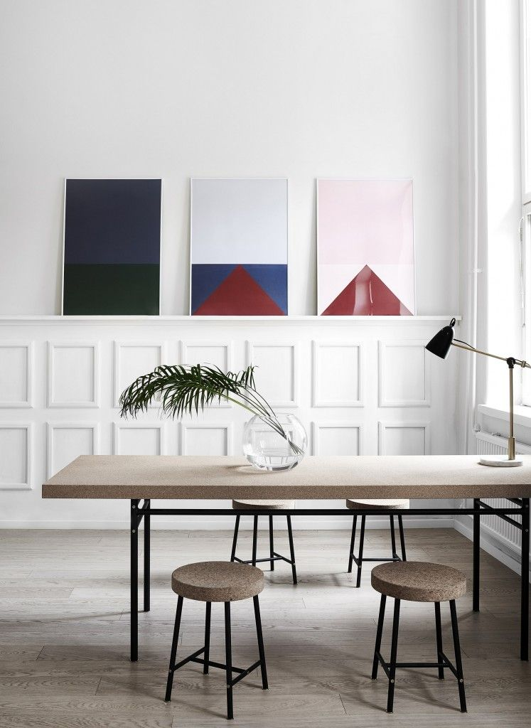 colors new prints by studio esinam via theposterclubcom cork furniture from ikea sinnerlig - Cork Dining Room Design