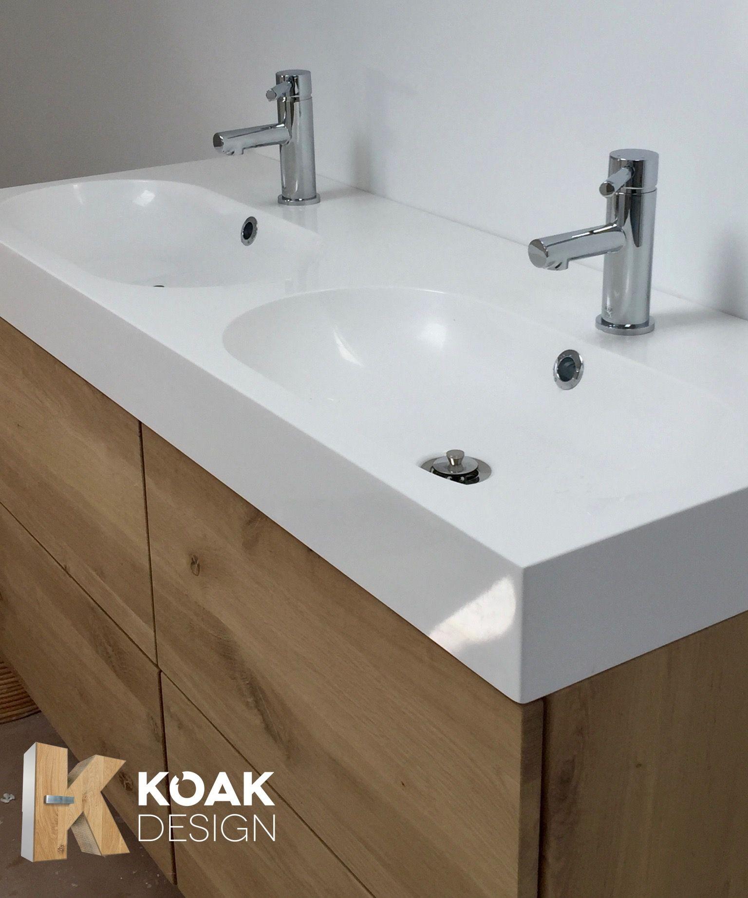 Badkamermeubel Van Eiken Hout Op Ikea Godmorgon Kast