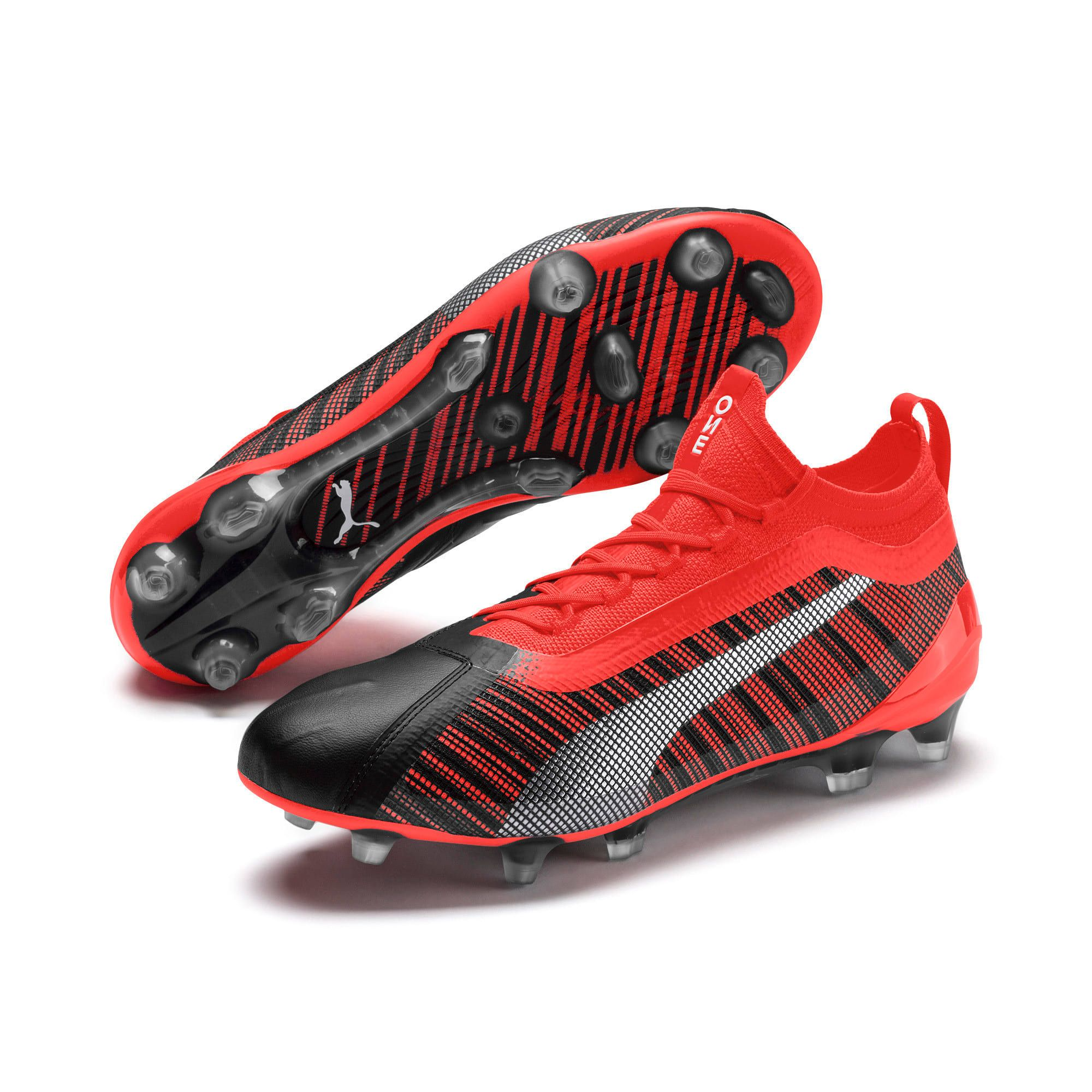PUMA One 5.1 EvoKnit FG/AG Men's Football Boots in Black/Red ...