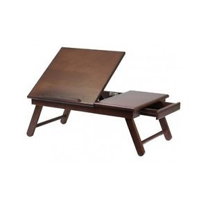 Winsome Foldable Wood Lap Desk Tray Table With Drawer For Laptop On Bed Couch Ebay