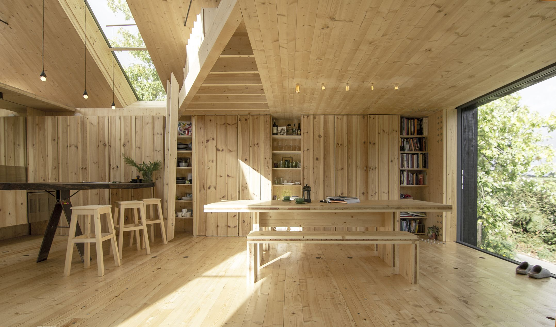 Cross laminated timber house designed and constructed by for Contemporary timber homes