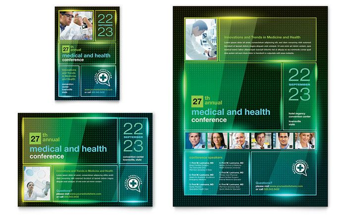 Medical Conference Flyer And Ad Design Template By Stocklayouts