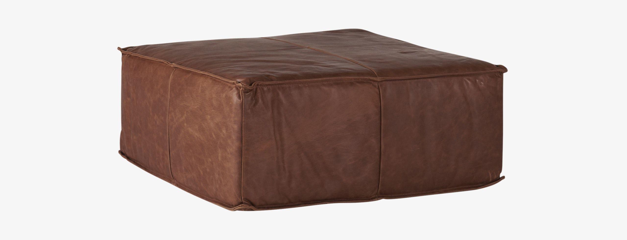 Wondrous Lyle Leather Ottoman Design In 2019 Leather Ottoman Creativecarmelina Interior Chair Design Creativecarmelinacom
