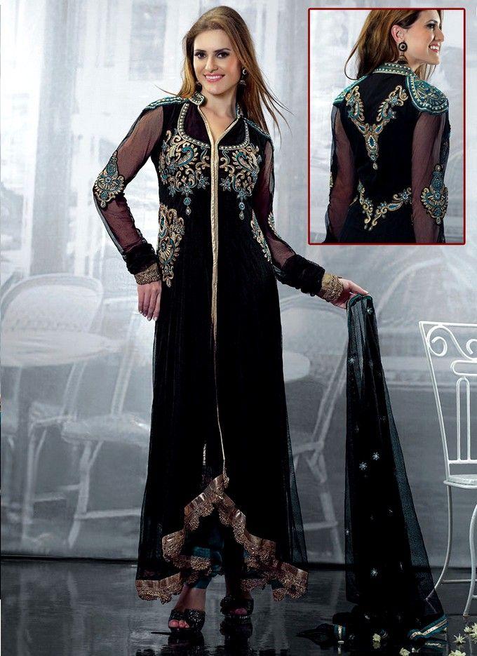 Black indian dresses