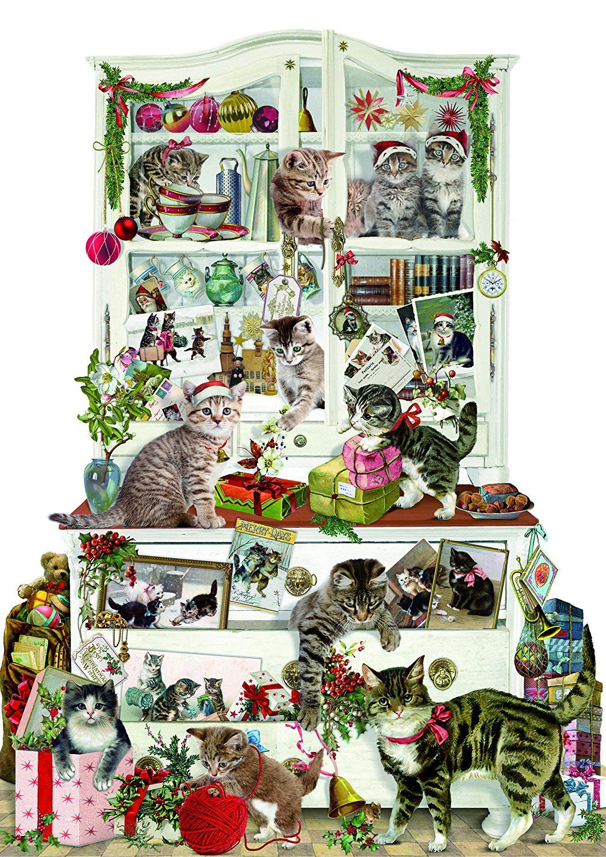 Amazon Com Coppenrath Advent Calendar Mischievous Christmas Cats Traditional Home Kitchen Traditional Advent Calendar Cat Advent Calendar Christmas Cats