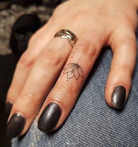 Lotus Finger #tattoos