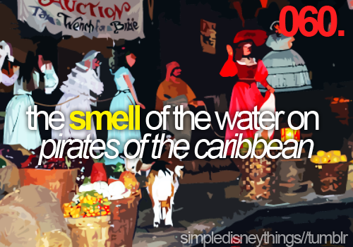 pirates of the caribbean.. I actually got a bottle of it on the ride!  It's my holy water!