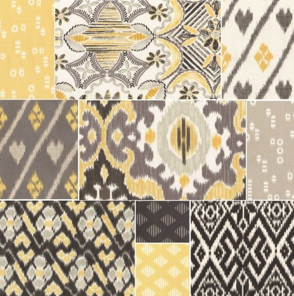 Fabric -yellow and gray | For the Home | Pinterest | Fabrics, Gray ...