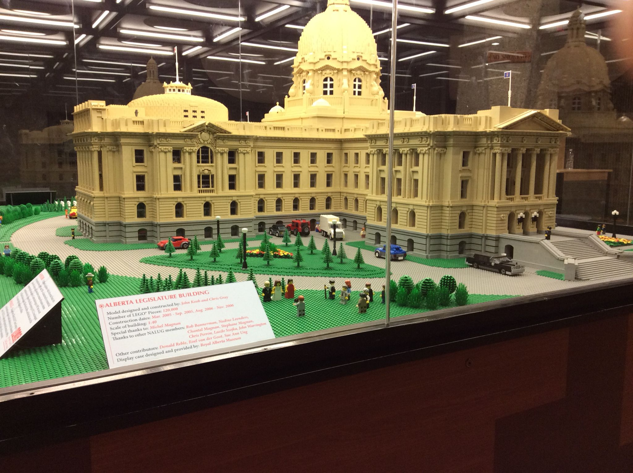 The Legislative Building Made Out Of Lego