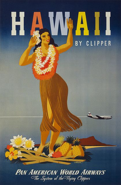Pan Am Flight Poster- I love these old prints... I have 2 in my house!