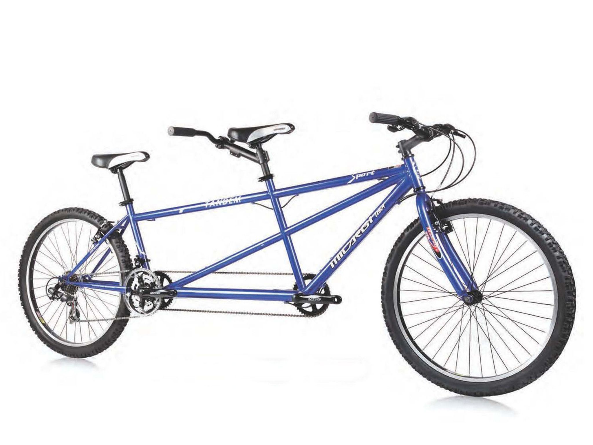 Micargi sport shimano 7 speed 26 tandem beach cruiser bike blue