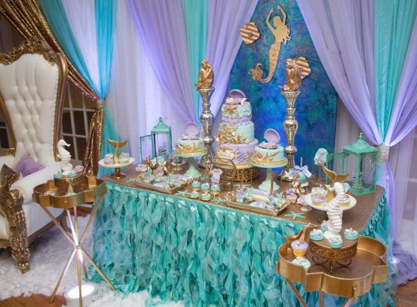 Blue Green Under The Sea Baby Shower Throne